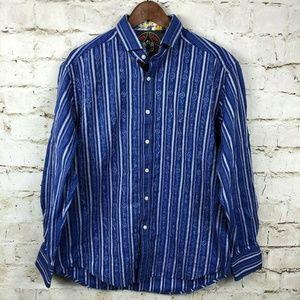 Robert Graham Flip Cuff Striped Button Down Shirt